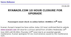 Ryanair paziņojums